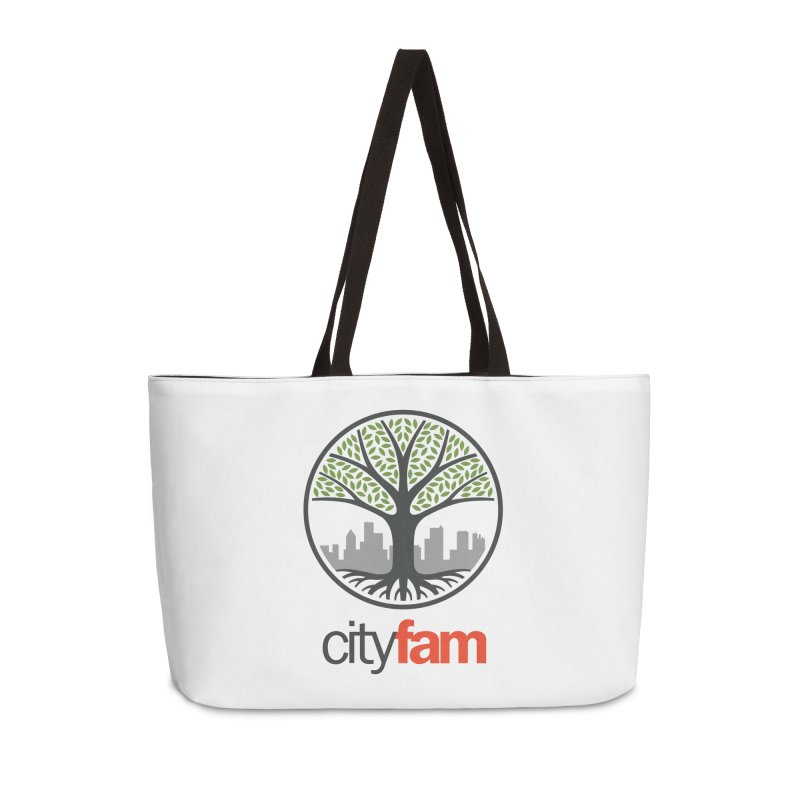 Cityfam Tree Accessories Weekender Bag Bag by City Fam's Artist Shop