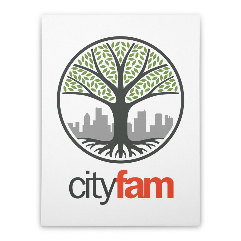 Cityfam Tree Home Stretched Canvas by City Fam's Artist Shop