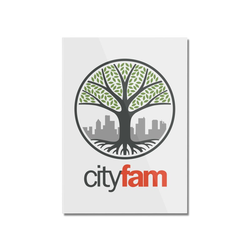 Cityfam Tree Home Mounted Acrylic Print by City Fam's Artist Shop