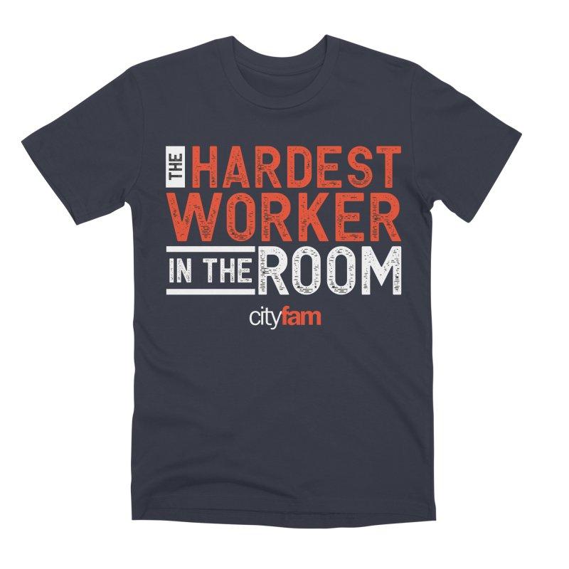 Hardest Worker Men's Premium T-Shirt by Cityfam's Artist Shop