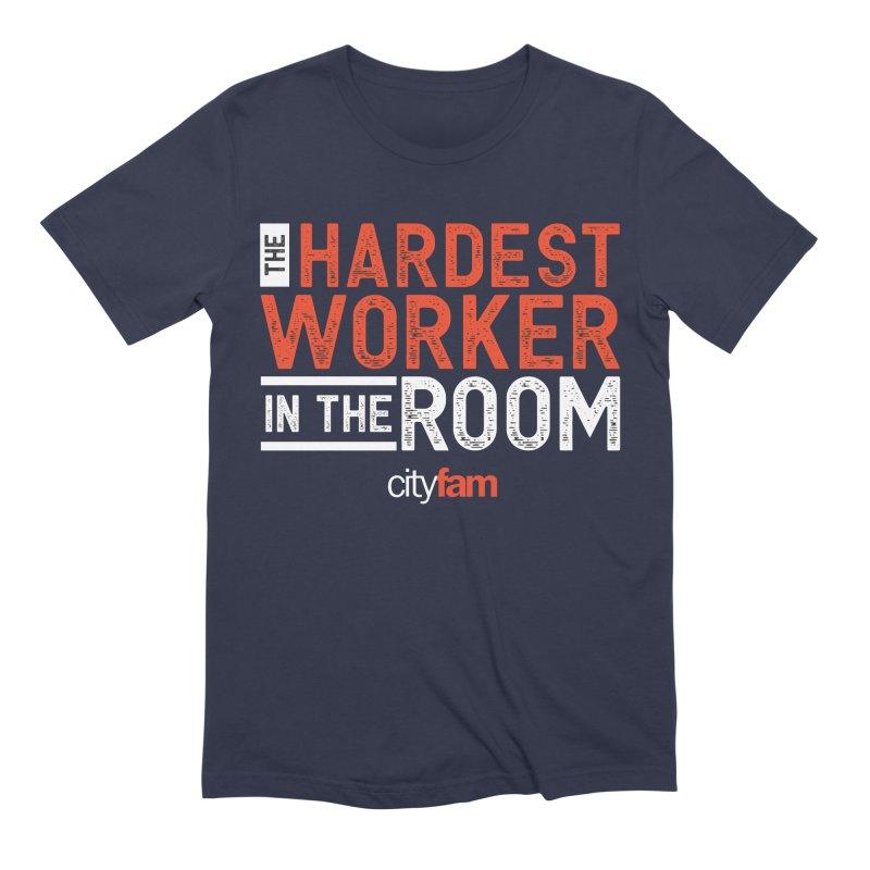Hardest Worker Men's Extra Soft T-Shirt by Cityfam's Artist Shop