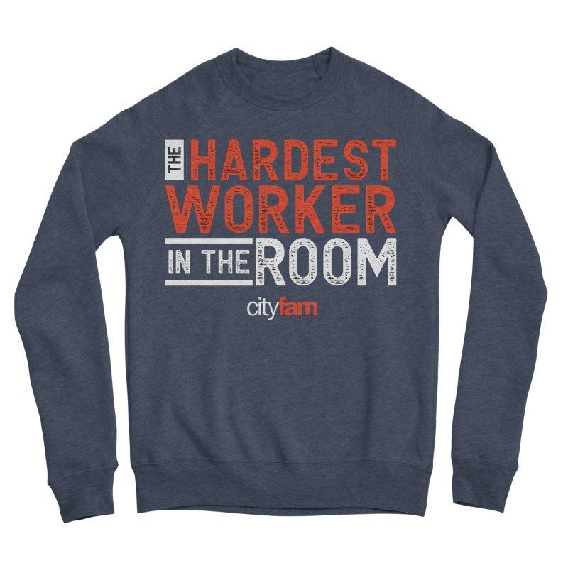 Hardest Worker Women's Sponge Fleece Sweatshirt by Cityfam's Artist Shop