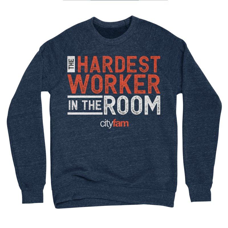 Hardest Worker Men's Sponge Fleece Sweatshirt by Cityfam's Artist Shop
