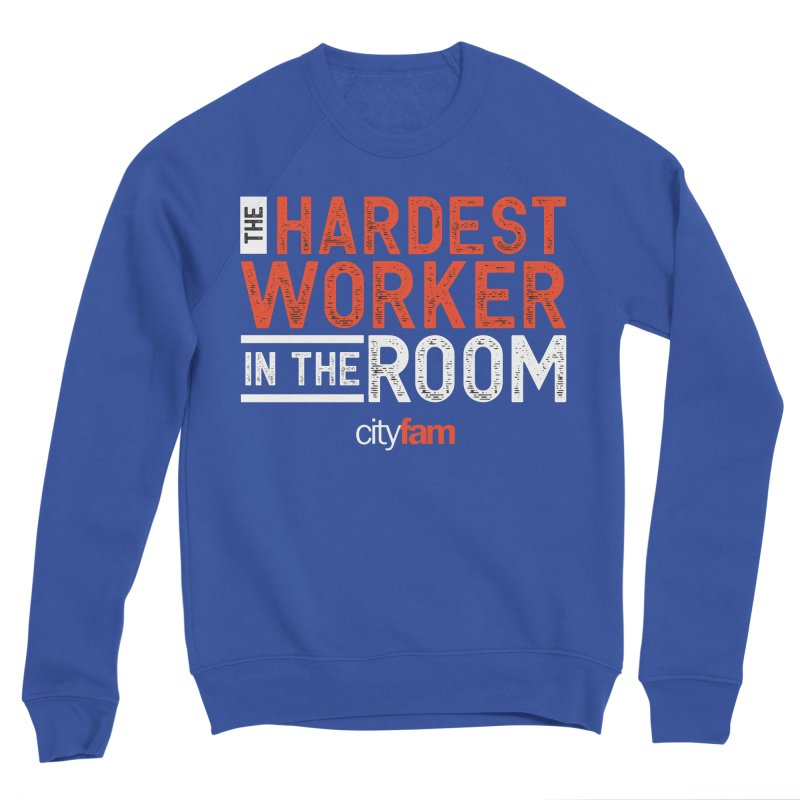Hardest Worker Men's Sponge Fleece Sweatshirt by City Fam's Artist Shop