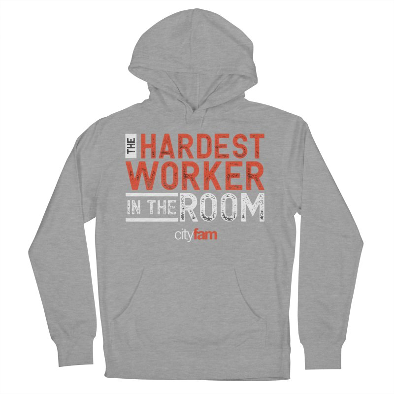 Hardest Worker Men's French Terry Pullover Hoody by Cityfam's Artist Shop