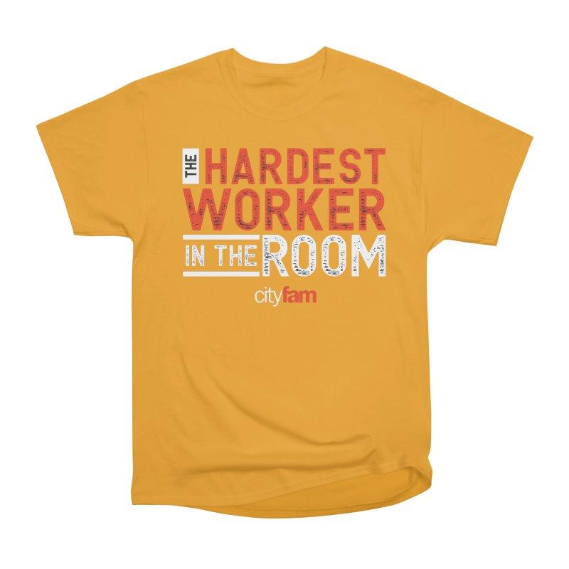 Hardest Worker Men's Heavyweight T-Shirt by Cityfam's Artist Shop