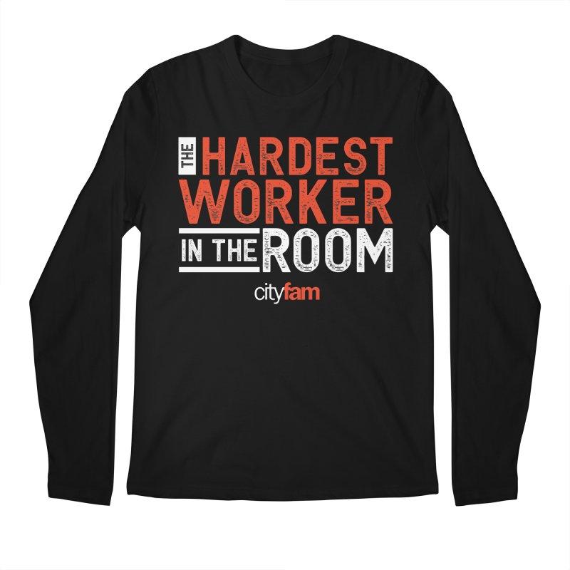 Hardest Worker Men's Regular Longsleeve T-Shirt by Cityfam's Artist Shop
