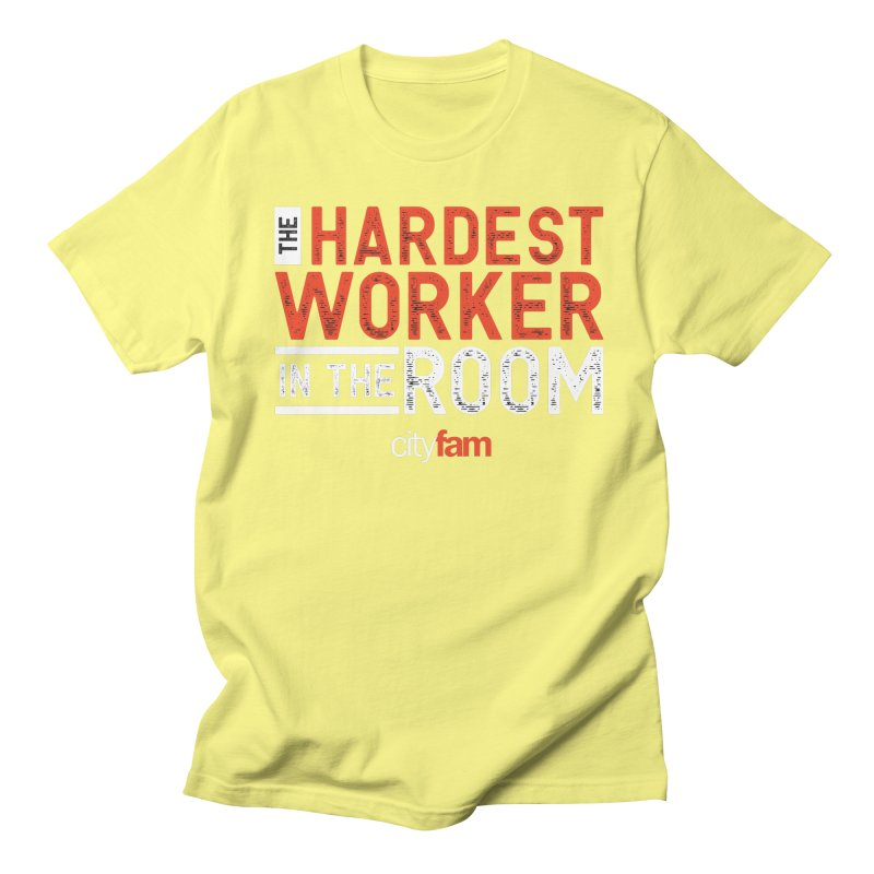 Hardest Worker Men's Regular T-Shirt by Cityfam's Artist Shop