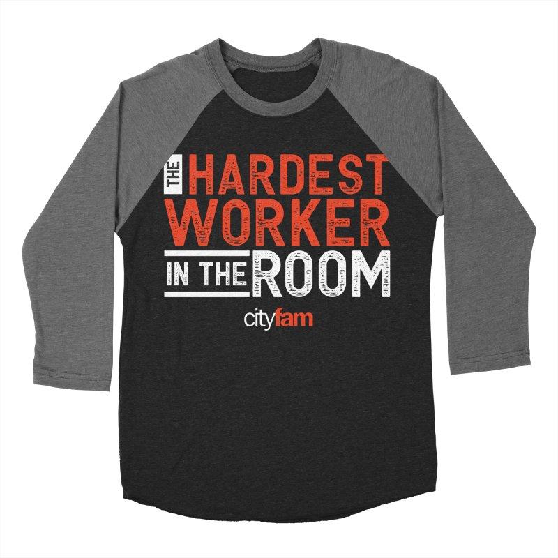 Hardest Worker Women's Baseball Triblend Longsleeve T-Shirt by Cityfam's Artist Shop