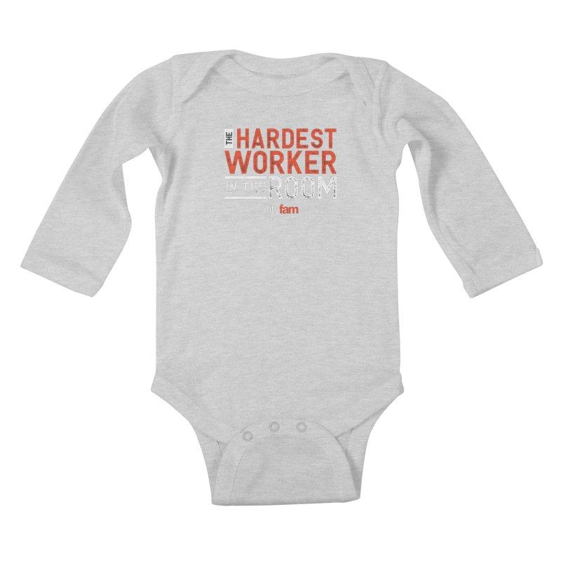 Hardest Worker Kids Baby Longsleeve Bodysuit by Cityfam's Artist Shop