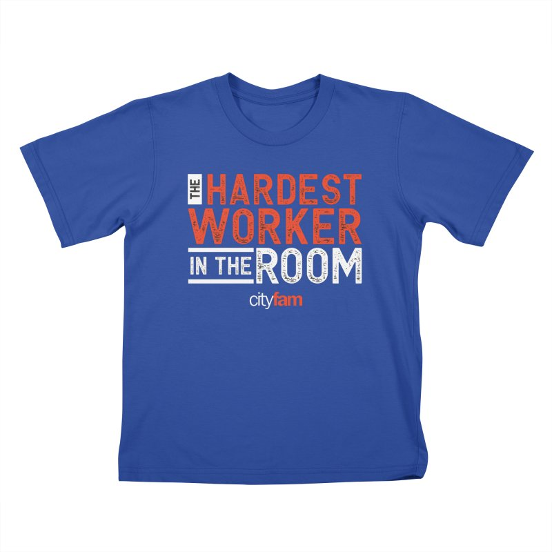 Hardest Worker Kids T-Shirt by Cityfam's Artist Shop