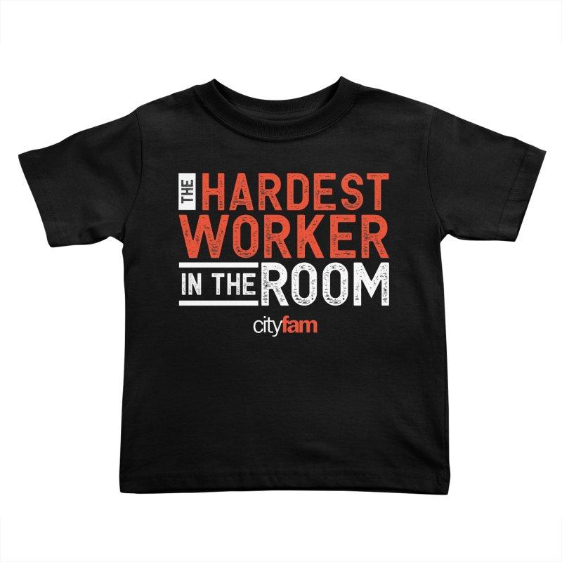 Hardest Worker Kids Toddler T-Shirt by City Fam's Artist Shop