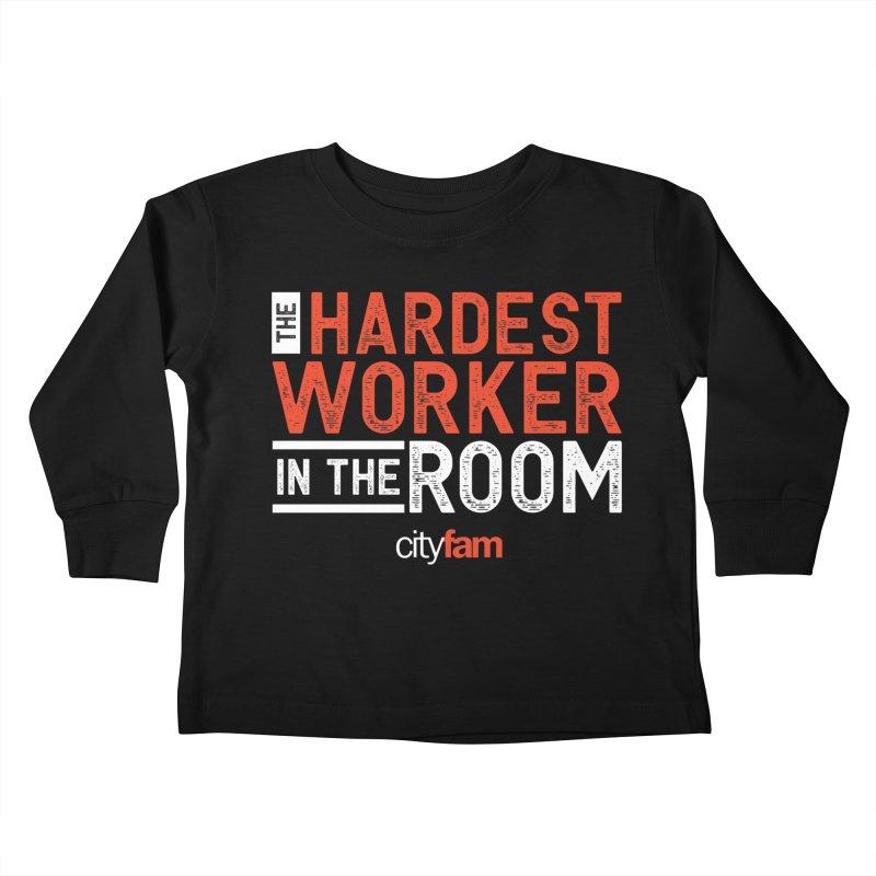 Hardest Worker Kids Toddler Longsleeve T-Shirt by Cityfam's Artist Shop