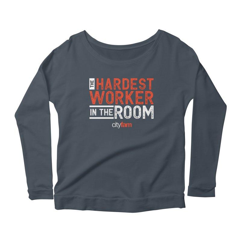 Hardest Worker Women's Scoop Neck Longsleeve T-Shirt by Cityfam's Artist Shop