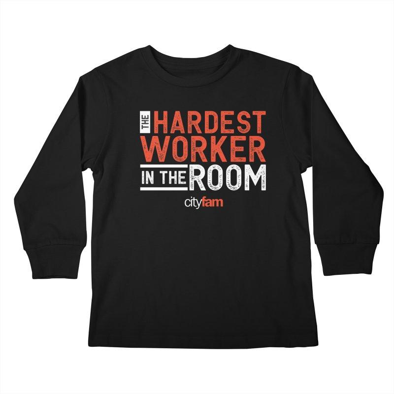 Hardest Worker Kids Longsleeve T-Shirt by Cityfam's Artist Shop