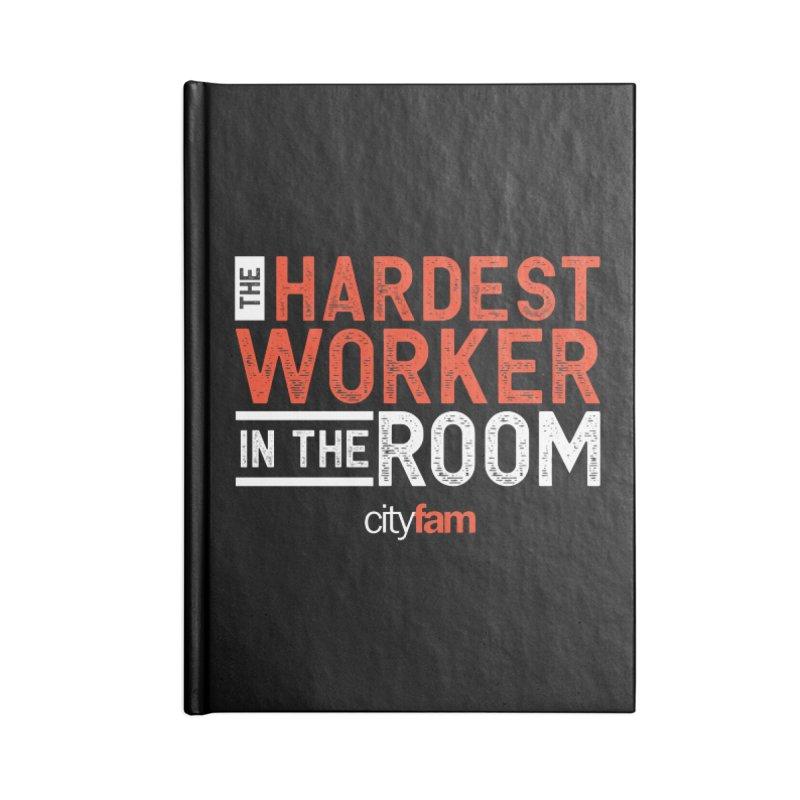 Hardest Worker Accessories Blank Journal Notebook by City Fam's Artist Shop