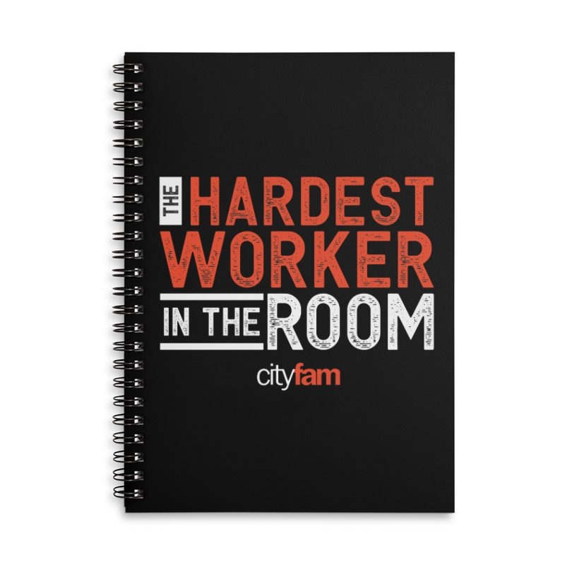Hardest Worker Accessories Lined Spiral Notebook by City Fam's Artist Shop