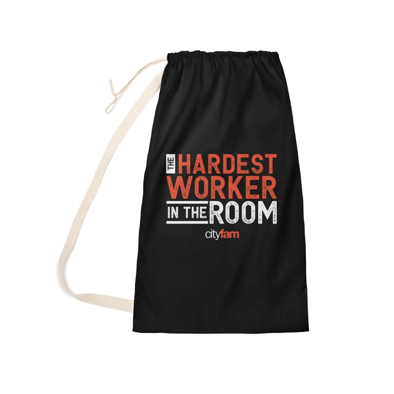 Hardest Worker Accessories Laundry Bag Bag by City Fam's Artist Shop