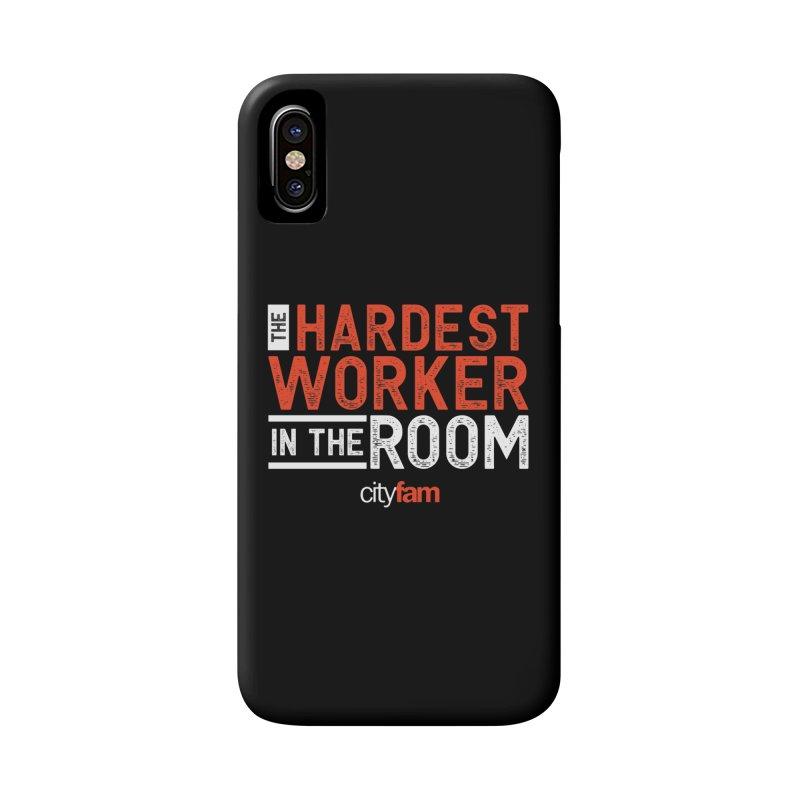 Hardest Worker Accessories Phone Case by Cityfam's Artist Shop