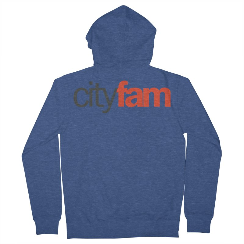 CityFam Men's French Terry Zip-Up Hoody by Cityfam's Artist Shop