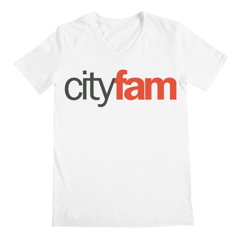 CityFam Men's Regular V-Neck by Cityfam's Artist Shop