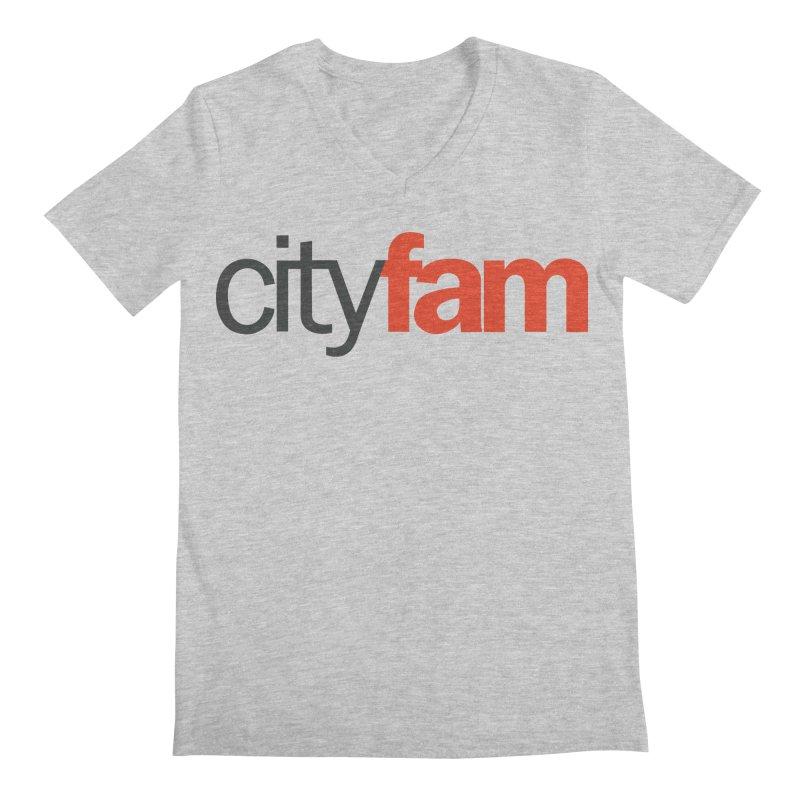CityFam Men's Regular V-Neck by Cityfam's Artist Shop