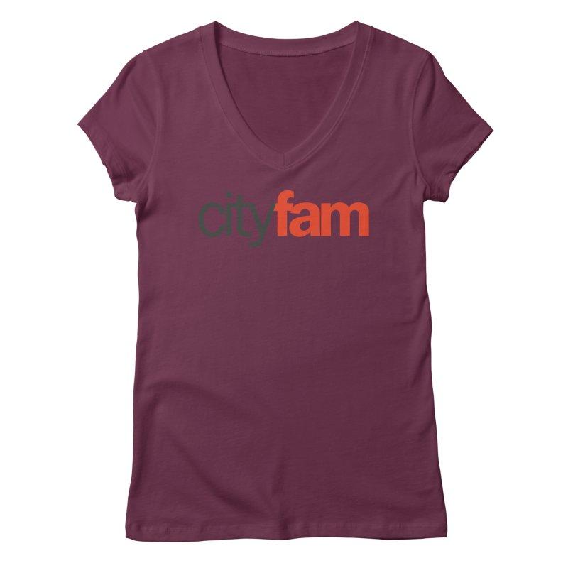 CityFam Women's V-Neck by City Fam's Artist Shop