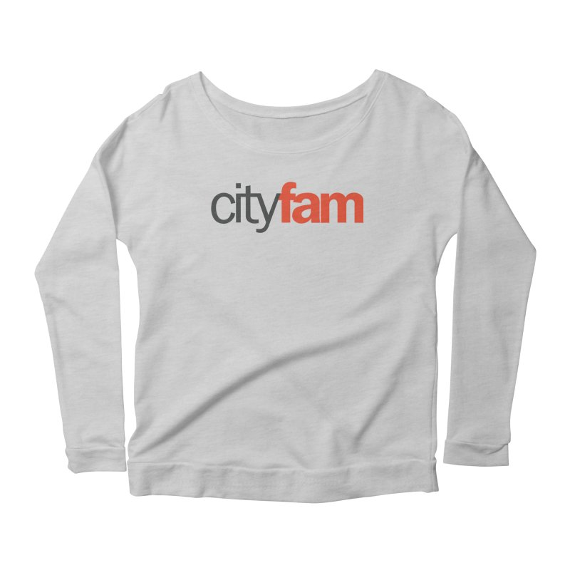 CityFam Women's Scoop Neck Longsleeve T-Shirt by Cityfam's Artist Shop