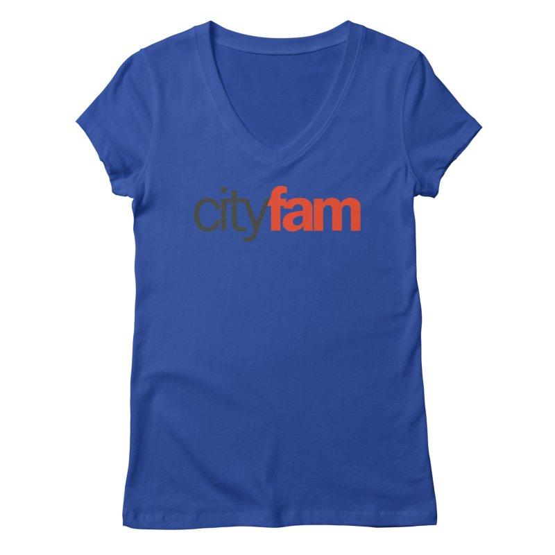 CityFam Women's Regular V-Neck by Cityfam's Artist Shop