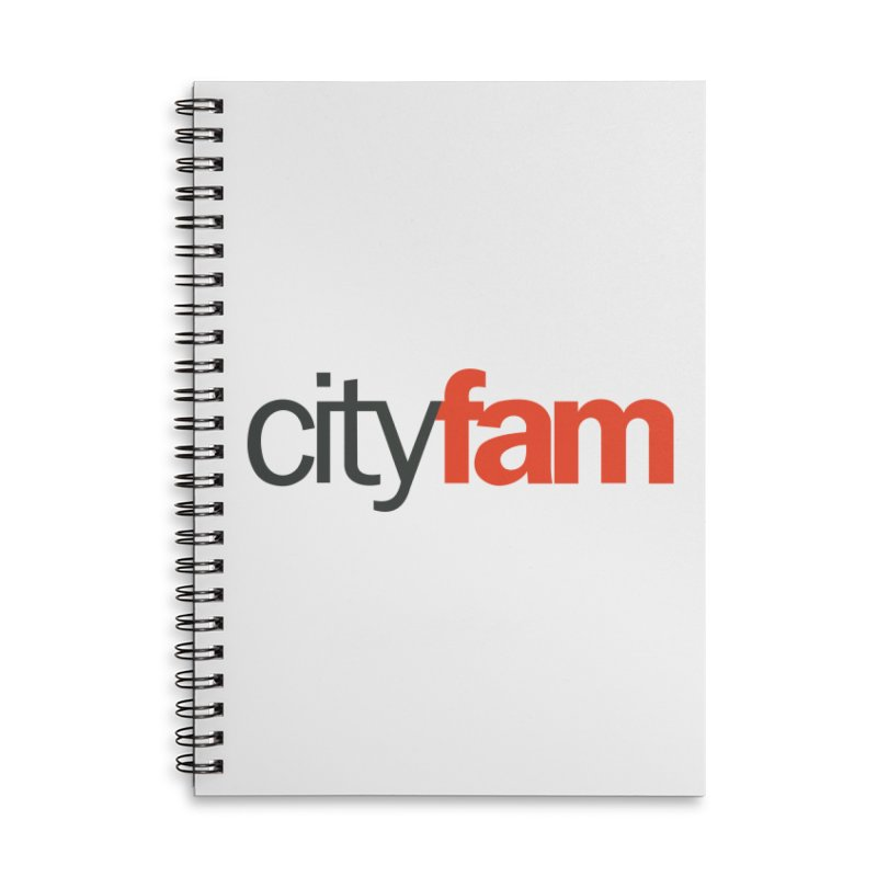 CityFam Accessories Lined Spiral Notebook by City Fam's Artist Shop