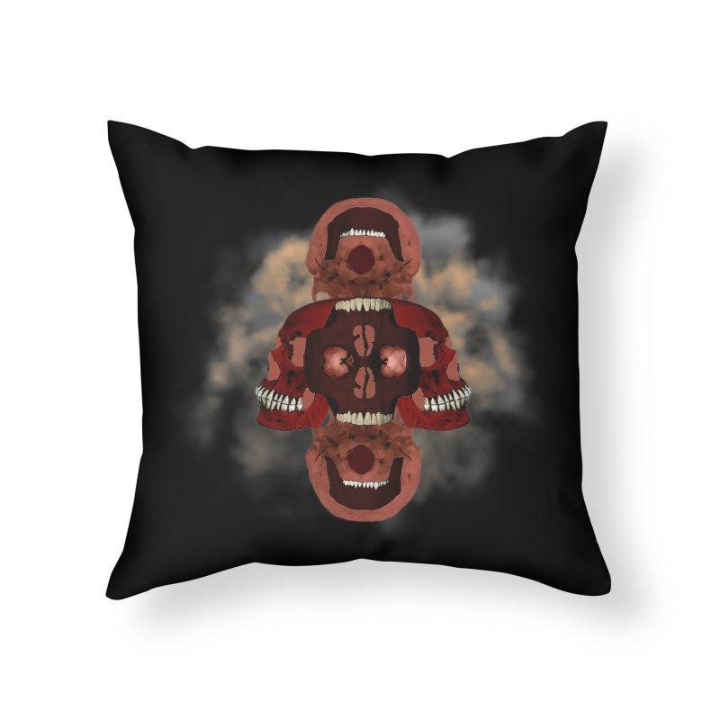 Smoky Skull Home Throw Pillow by ClaytonArtistry's Artist Shop