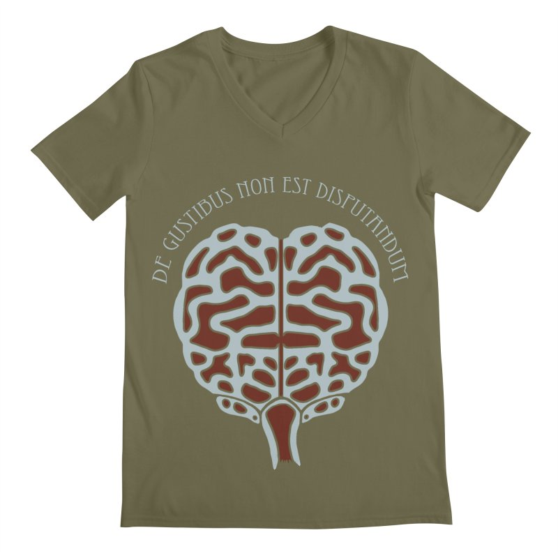 Latin Zombie Brain Men's V-Neck by ClaytonArtistry's Artist Shop