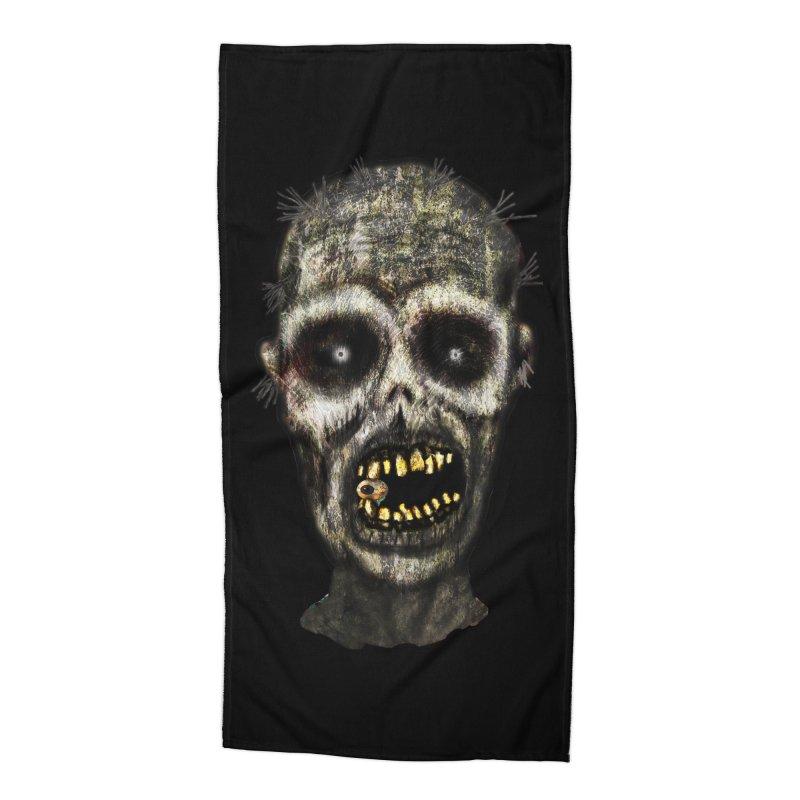 Zombie Head Accessories Beach Towel by ClaytonArtistry's Artist Shop