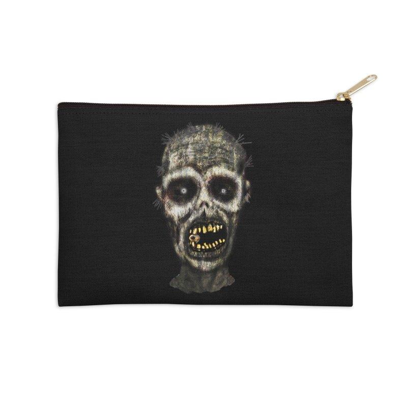 Zombie Head Accessories Zip Pouch by ClaytonArtistry's Artist Shop