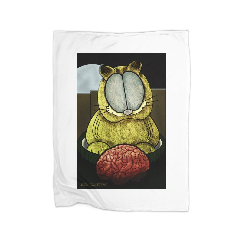 Zombie Cat Home Blanket by ClaytonArtistry's Artist Shop