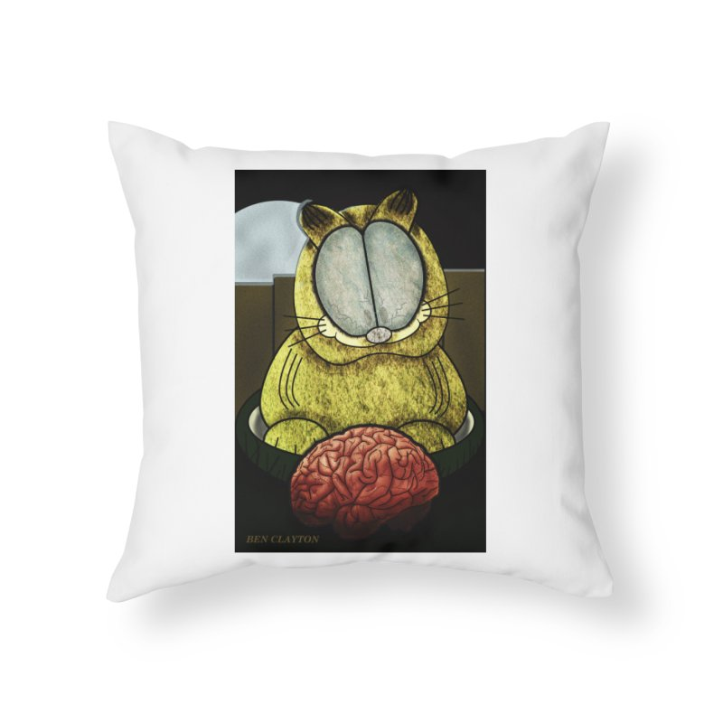 Zombie Cat Home Throw Pillow by ClaytonArtistry's Artist Shop