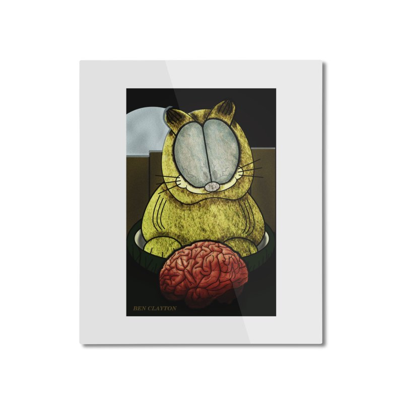 Zombie Cat Home Mounted Aluminum Print by ClaytonArtistry's Artist Shop