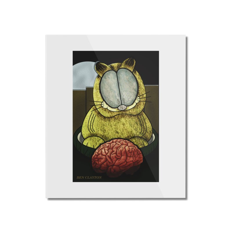 Zombie Cat Home Mounted Acrylic Print by ClaytonArtistry's Artist Shop