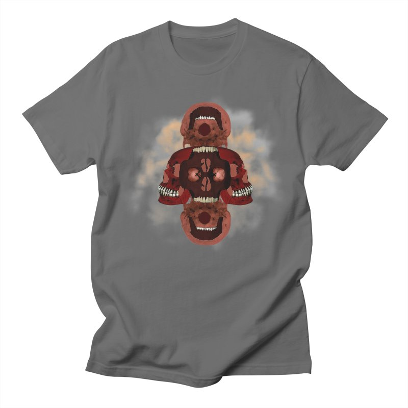 Smokey Skulls Men's T-Shirt by ClaytonArtistry's Artist Shop