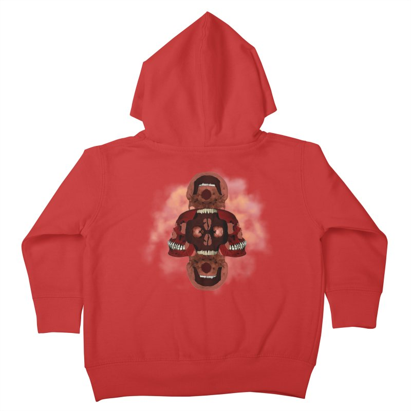 Smokey Skulls Kids Toddler Zip-Up Hoody by ClaytonArtistry's Artist Shop