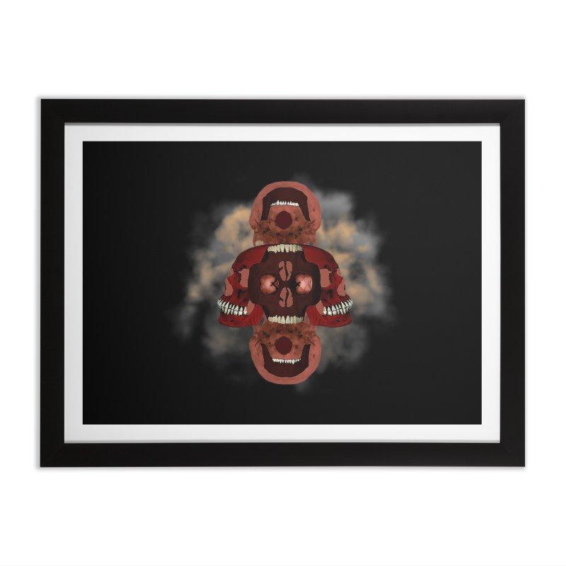 Smokey Skulls Home Framed Fine Art Print by ClaytonArtistry's Artist Shop
