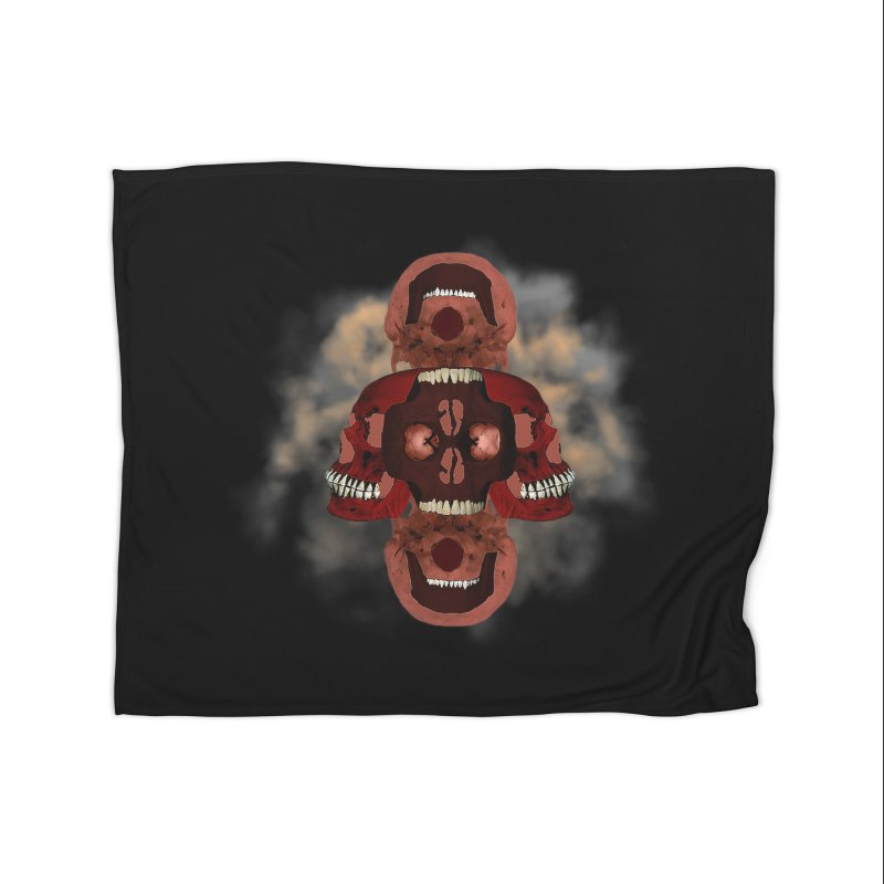 Smokey Skulls Home Blanket by ClaytonArtistry's Artist Shop