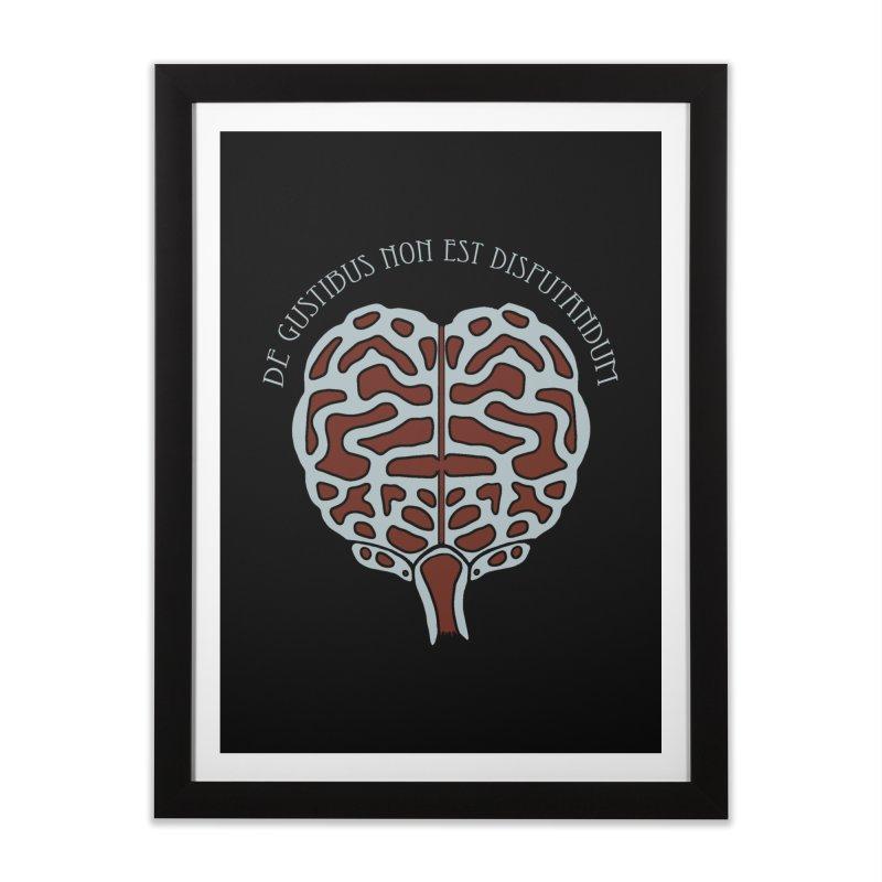 Latin Zombie Brain Home Framed Fine Art Print by ClaytonArtistry's Artist Shop