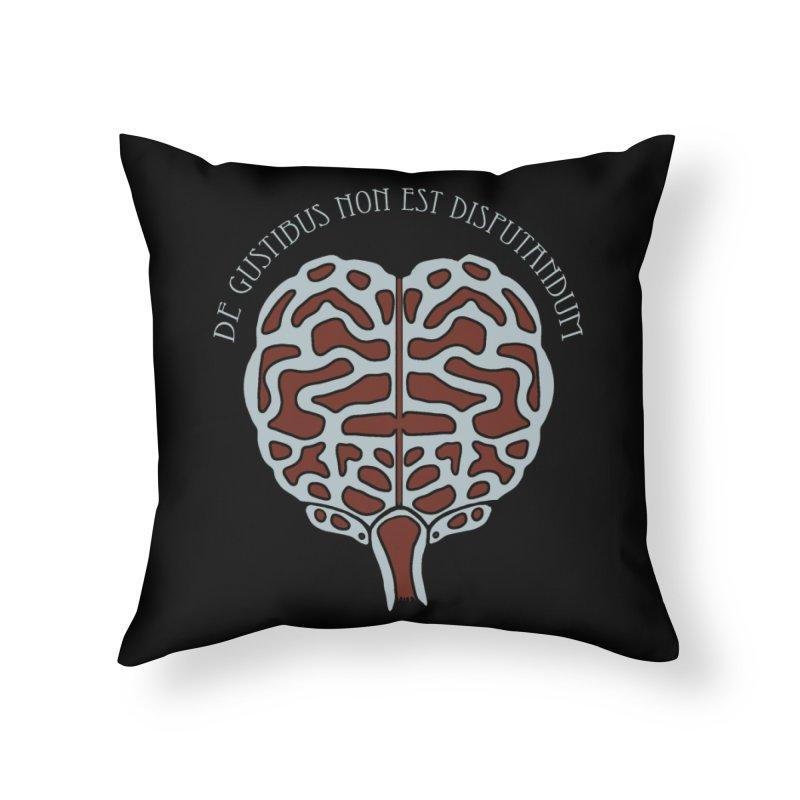 Latin Zombie Brain Home Throw Pillow by ClaytonArtistry's Artist Shop