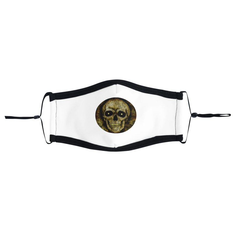 Posterized Grunge Skull Accessories Face Mask by ClaytonArtistry's Artist Shop