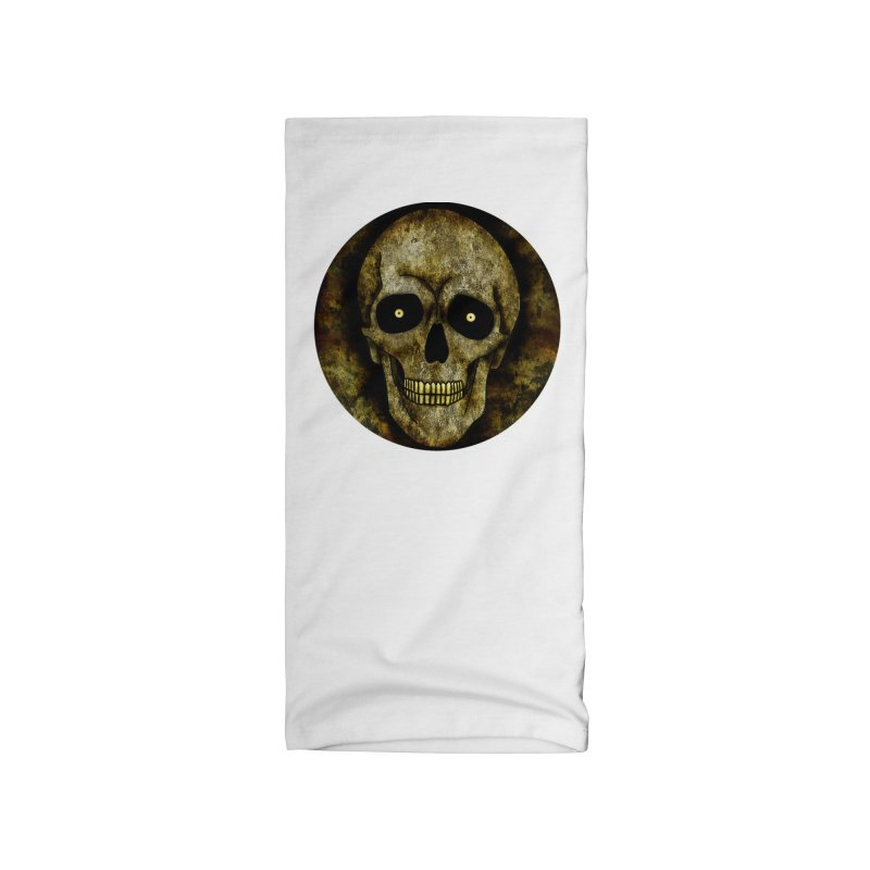 Posterized Grunge Skull Accessories Neck Gaiter by ClaytonArtistry's Artist Shop