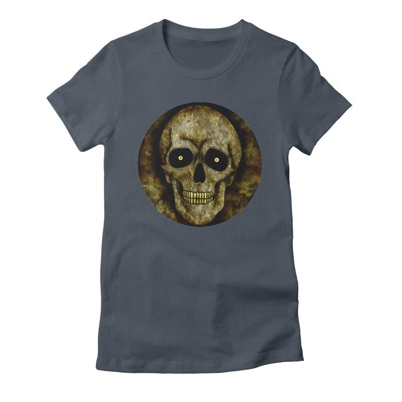 Posterized Grunge Skull Women's T-Shirt by ClaytonArtistry's Artist Shop