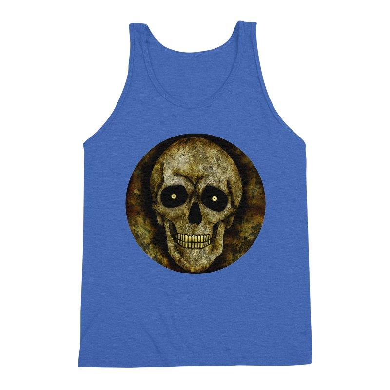 Posterized Grunge Skull Men's Tank by ClaytonArtistry's Artist Shop