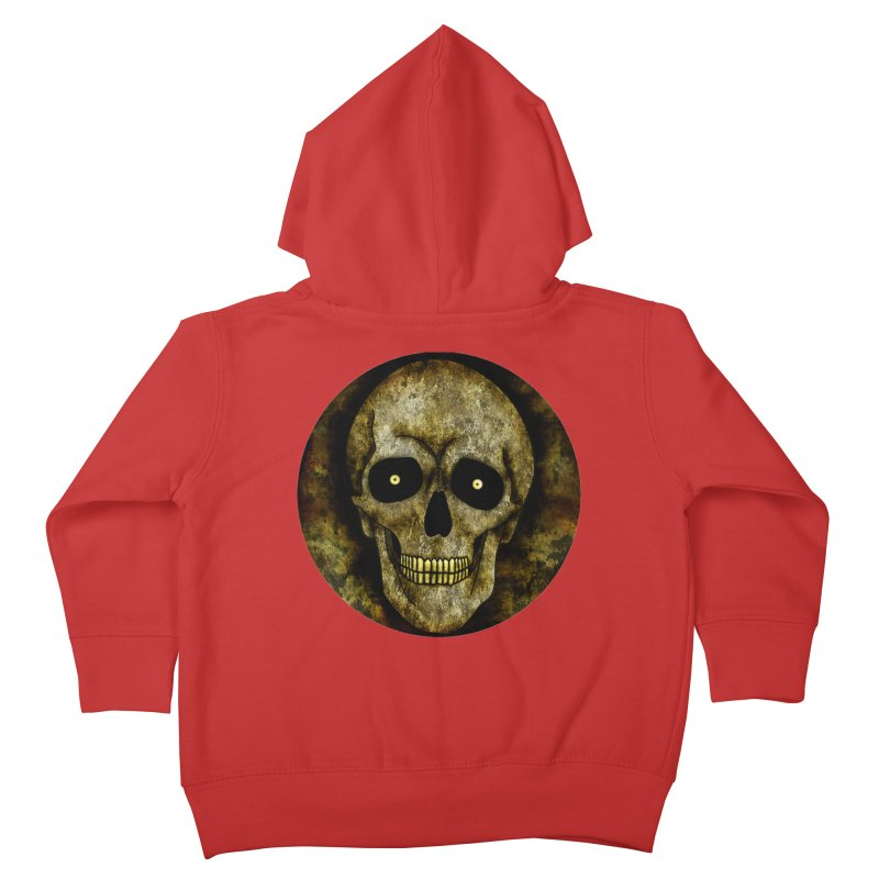 Posterized Grunge Skull Kids Toddler Zip-Up Hoody by ClaytonArtistry's Artist Shop