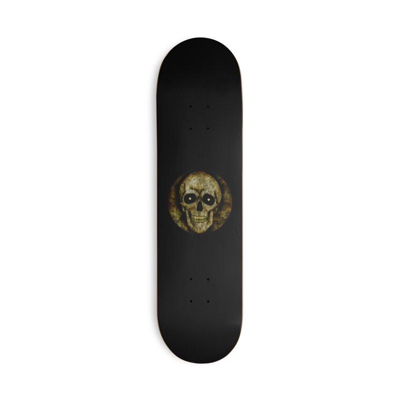 Posterized Grunge Skull Accessories Skateboard by ClaytonArtistry's Artist Shop